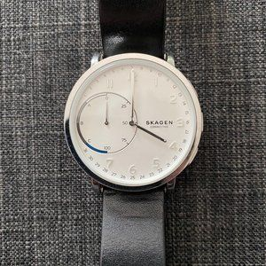 Hagen Connected Leather Hybrid Smartwatch 42mm
